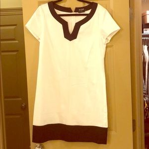 BCBG Blac & White Color Blocked dress.